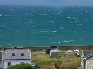 Choppy day at Chesil