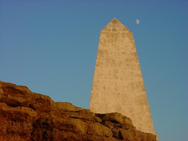 Pyramid moon