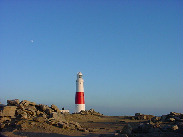 Lighthouse moon, Portland Bill